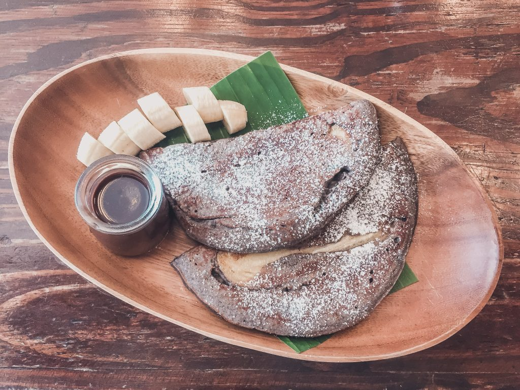 Vegan pancakes in Bangkok, best thing for any vegan in Thailand