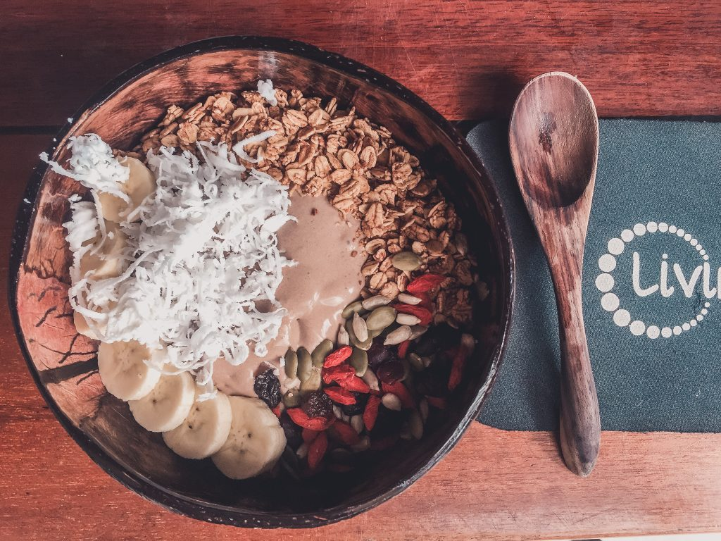 Vegan smoothie bowl in Thailand
