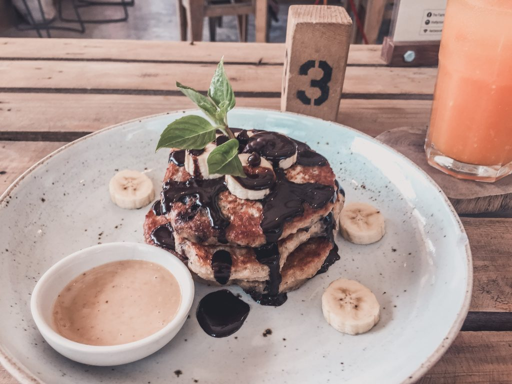 Vegan pancakes in Koh Tao, must-go for vegans in Thailand