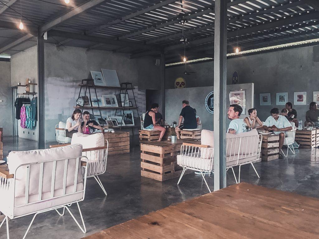 CRATE cafe interior, most popular for vegans in Canggu