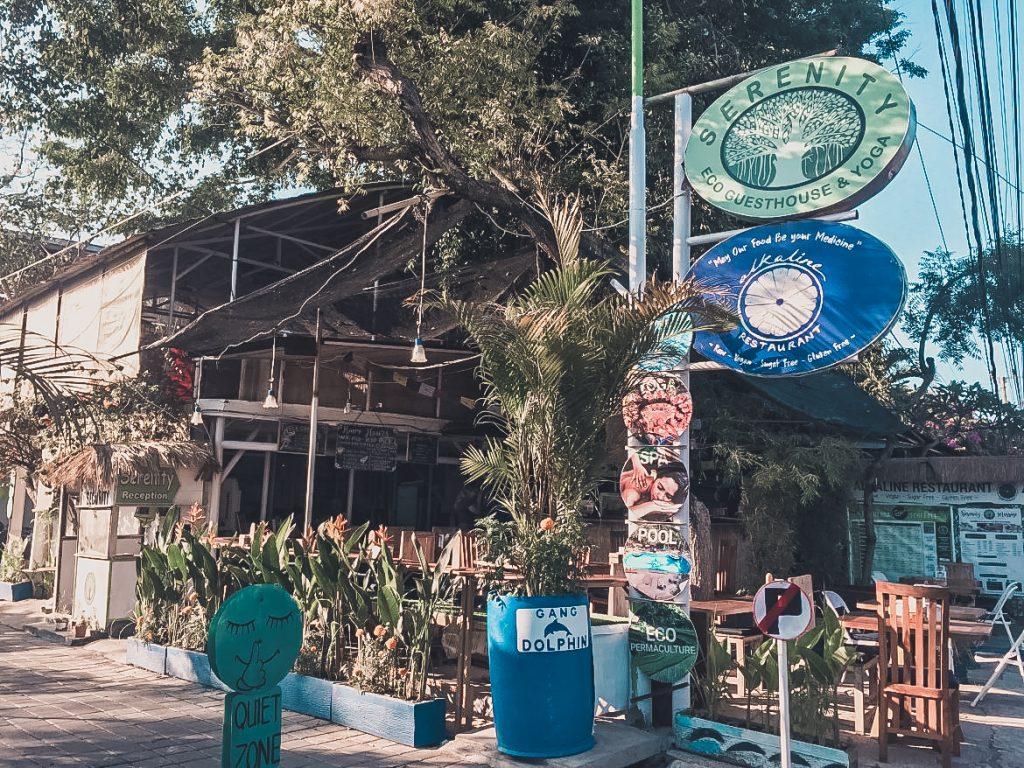 Alkaline Restaurant, outside seating; best vegan food in Canggu