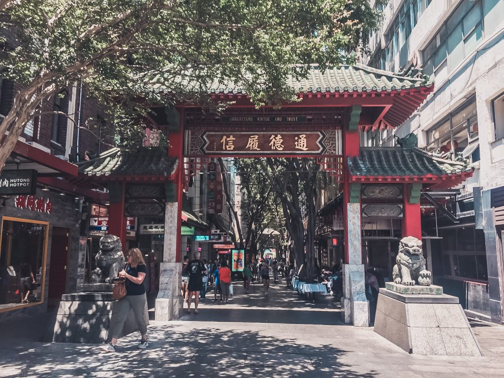 Chinatown - a stop not to miss when exploring Sydney by foot.