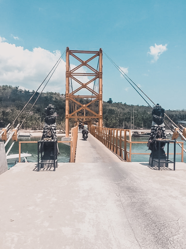 The yellow bridge means you're done exploring Nusa Lembongan by foot and head over to Nusa Ceningan.