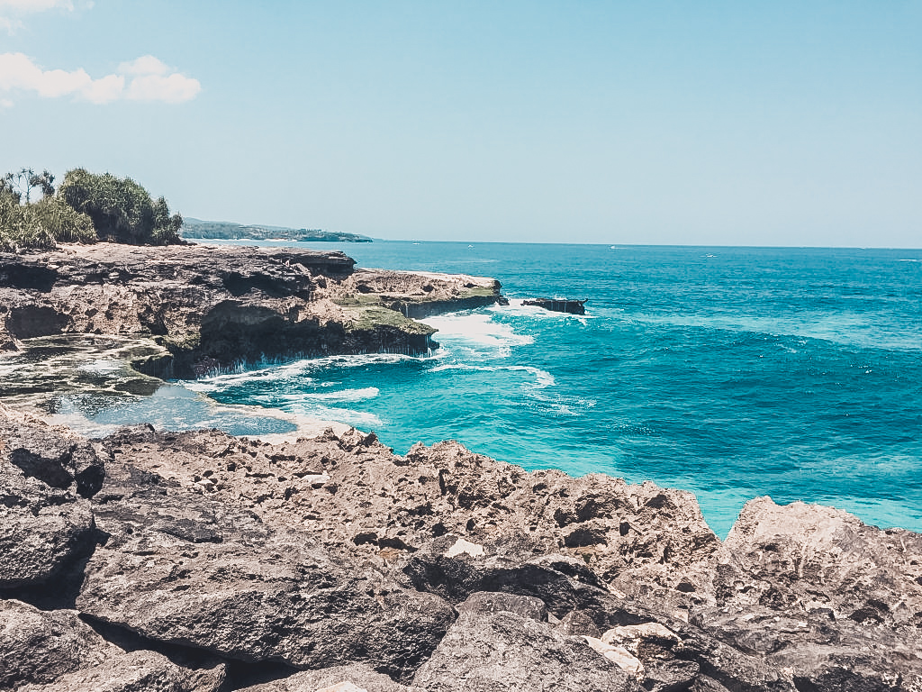 Discovering less crowded places is the beauty of exploring Nusa Lembongan by foot.