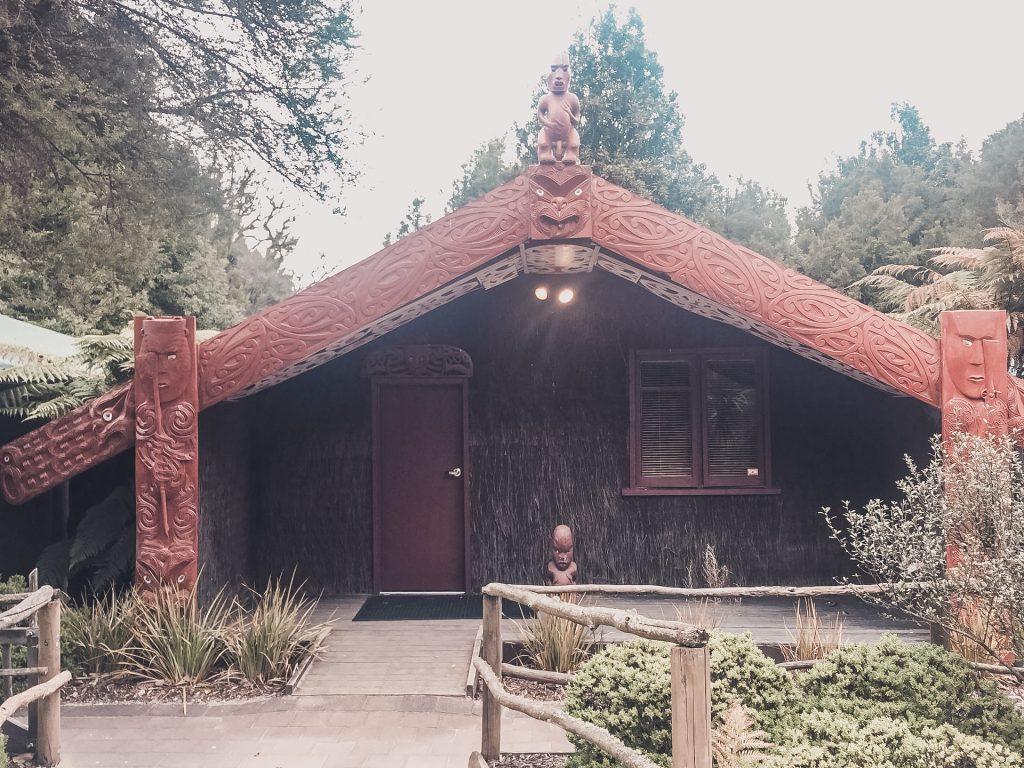 The accommodation in the Tamaki Maori Village