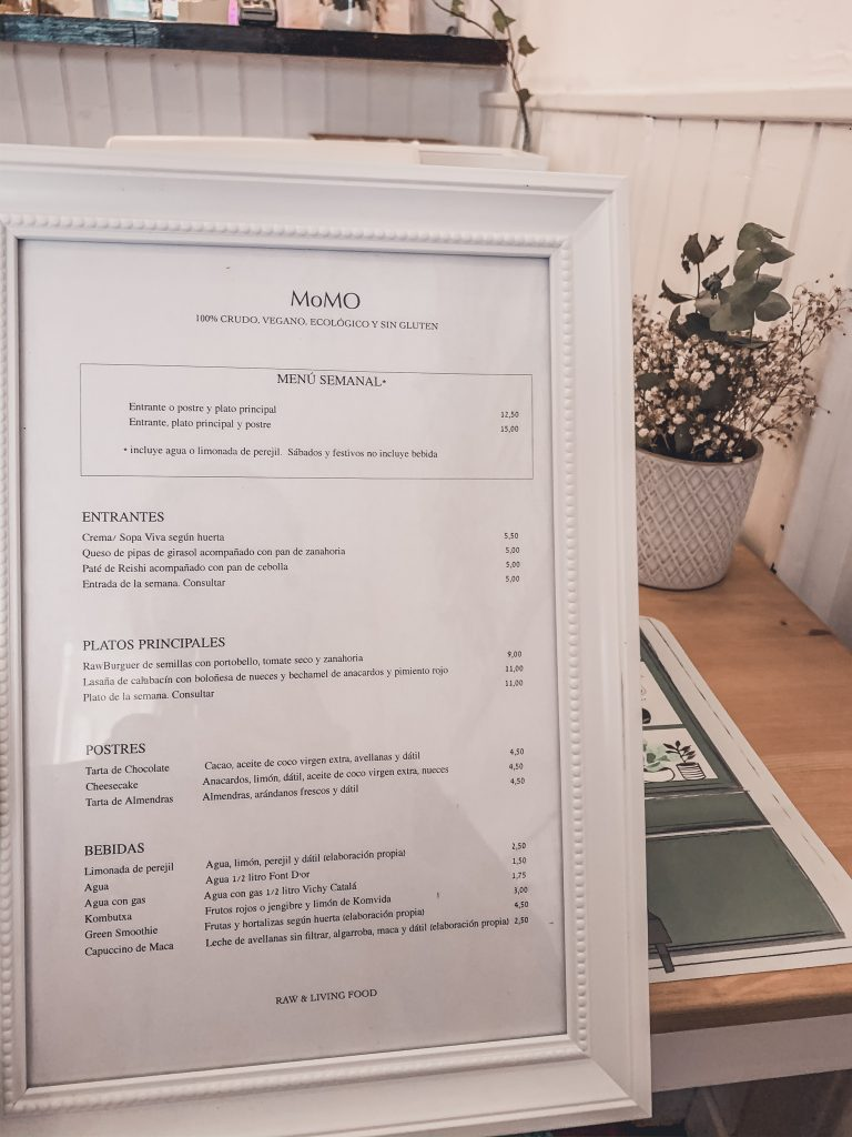 The menu is a dream for any vegan in Alicante