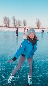 Ice skating in the Rhine Meadows during my year of 23